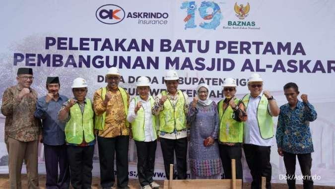 Pasca gempa dan tsunami, Askrindo gandeng Baznas bangun Masjid di Sulawesi Tengah