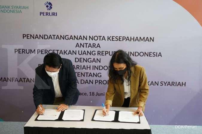 Dukung perekonomian syariah, Peruri teken MoU dengan Bank Syariah Indonesia