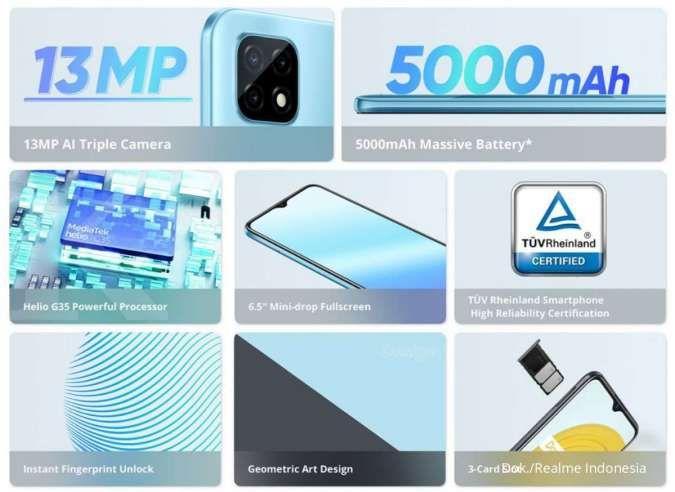 Spesifikasi dan harga HP Realme C21