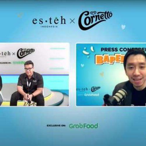 Eksklusif di GrabFood, Es Teh Indonesia dan Cornetto Hadirkan Sensasi Baper melalui Dua Menu Istimewa