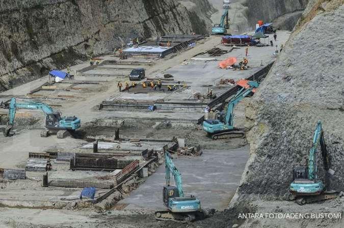 Progres pembangunan Bendungan Leuwikeris di Jawa Barat mencapai 59,52%