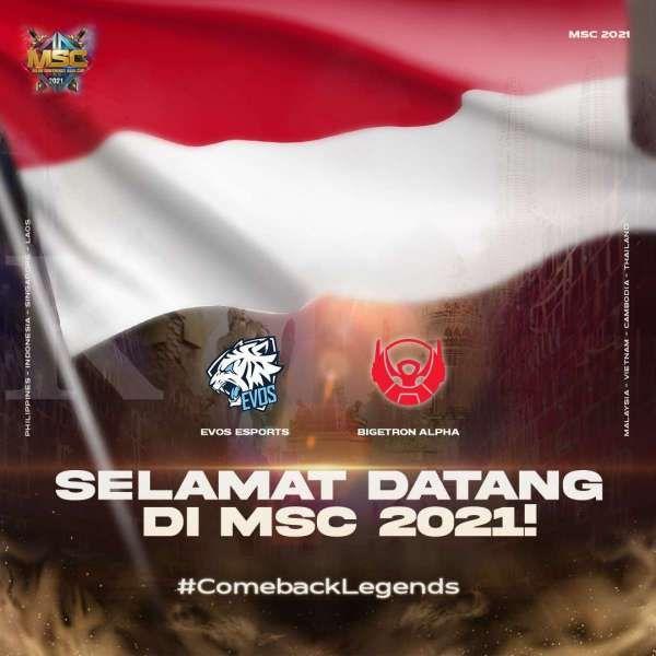 Evos Legends dan Bigetron Alpha wakili Indonesia di ajang MSC 2021