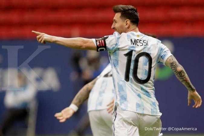 Kans Lionel Messi raih gelar hingga rekor baru bersama Argentina di Copa America 2021