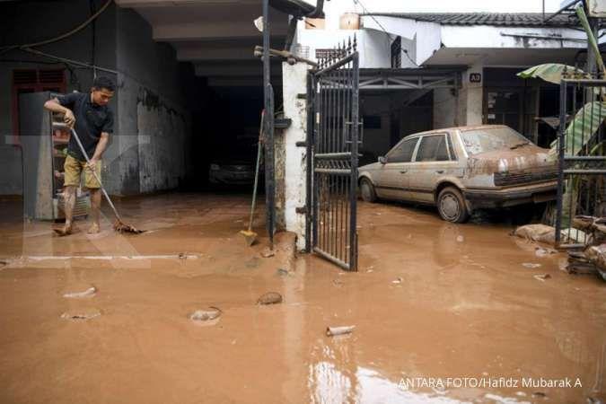 Deretan perumahan yang terendam banjir awal tahun 2020