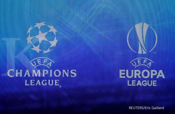 Logo UEFA Champions League dan Europa League