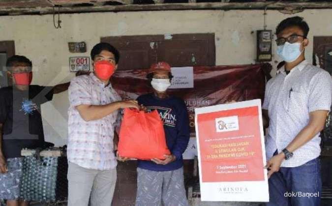 Gandeng OJK dan anggota DPR, Baqoel-Arinofa Foundation bagi sembako di Jateng