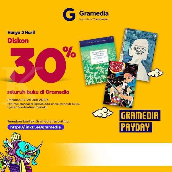 Asyik, ada diskon 30% untuk seluruh buku di Gramedia akhir pekan ini