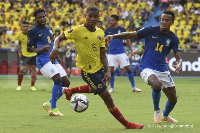 Kolombia vs Brasil di Kualifikasi Piala Dunia 2022: Selecao tahan Los Cafeteros 0-0