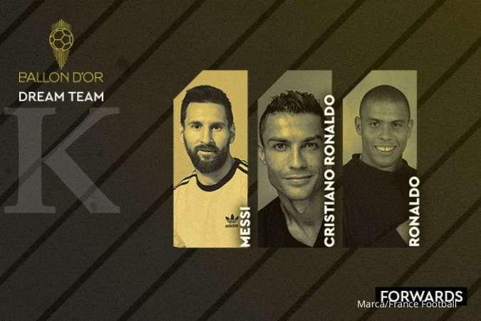 Ronaldo, Pele, Maradona di daftar Ballon d'Or Dream Team 2020