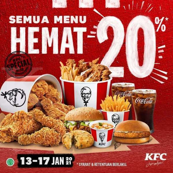 Promo KFC periode 13-17 Januari 2021