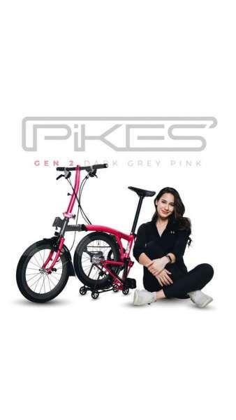 Feminin, harga sepeda lipat Element Pikes Gen 2 x Pevita Pearce tidak terlalu mahal