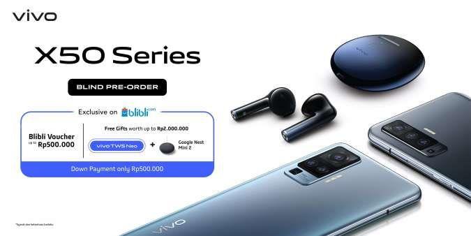 Konsumen Indonesia bisa memesan Vivo X50 mulai hari ini, pantau dulu fiturnya