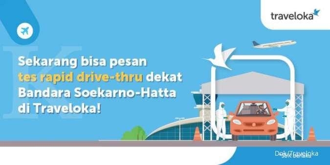 Rapid test di bandara ini bisa secara drive thru, hanya 15 menit, gratis masker KN95