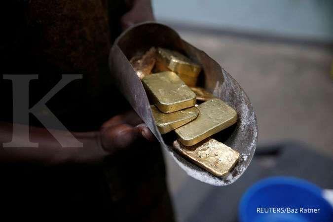 Harga emas masih akan tertahan di sekitar US$ 1.800 per ons troi
