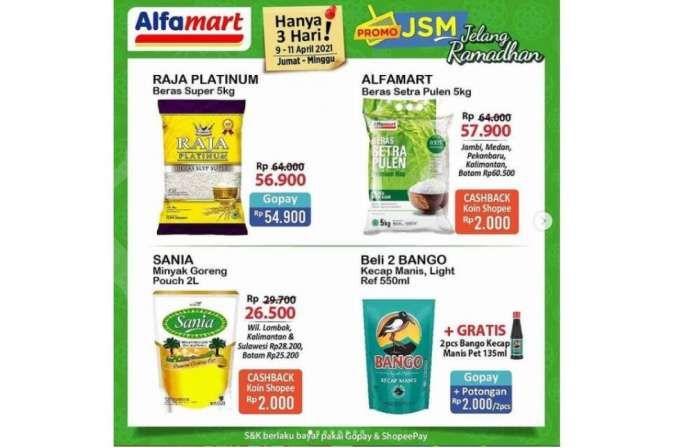 Promo JSM Alfamart diskonan menjelang Ramadan, 9-11 April 2021!