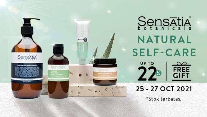 Promo Body Care Sensatia Botanicals, Nikmati Diskon s/d 22% + Free Gift + Voucher