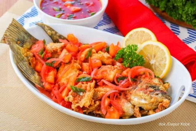 Resep Ikan Krispi Saus Asam Manis, Sajian Kreasi Ikan Goreng yang Bikin Ngiler
