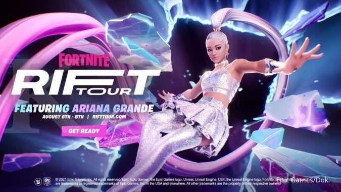 Game Fortnite kolaborasi dengan Ariana Grande, gelar konser virtual Rift Tour