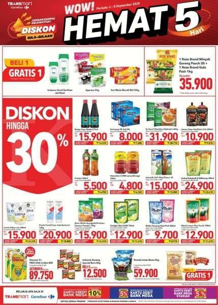 Katalog Promo Transmart Carrefour 4 8 September 2020 Hemat 5 Hari