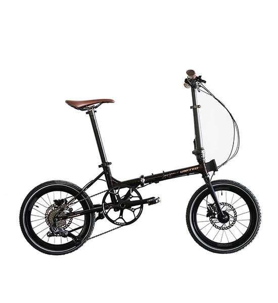 Sepeda lipat United Black Horse X Janji Jiwa mudah dilipat dan ringan.