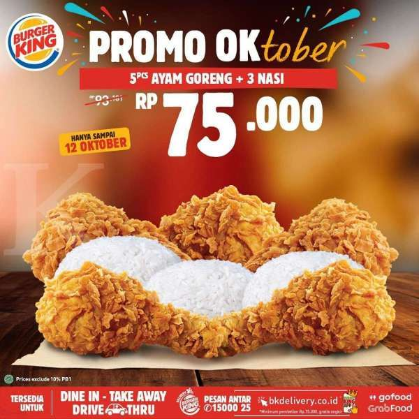 Promo Burger King OKtober