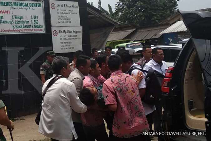 Usus halus Wiranto dipotong sepanjang 40 sentimeter karena luka