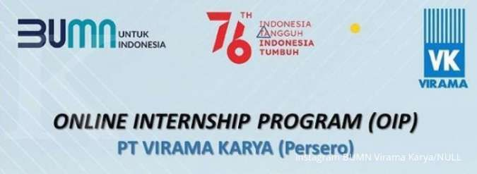 Buat mahasiswa dan fresh graduate, ini lowongan kerja magang di BUMN Virama Karya