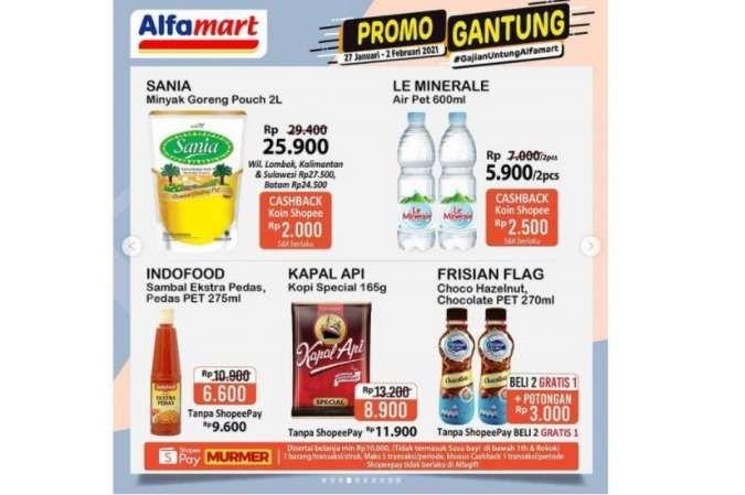 Promo Alfamart Gantung diskon gajian akan berakhir, Senin 1 Februari 2021!