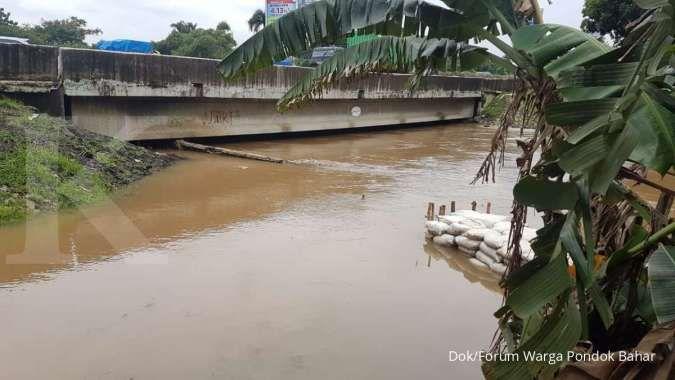 Trauma banjir, Forum Warga Pondok Bahar tunggu Jasa Marga terbitkan izin proyek turap