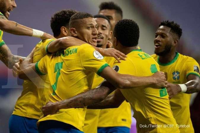 Jadwal Copa America 2021 Brasil vs Kolombia: Selecao jauh superior dari Los Cafeteros
