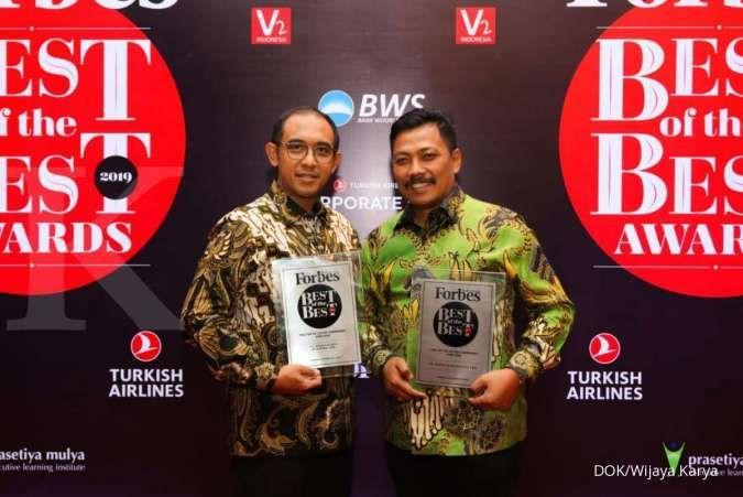 Wijaya Karya (WIKA) masuk Forbes Top 10 Best of the Best Award 2019