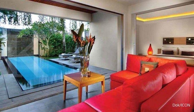 kamar hotel; perhotelan; villa di Jimbaran, Bali dari PTIsland Concepts Indonesia Tbk (ICON)