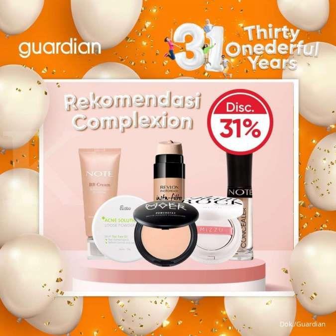 Promo Guardian Terbaru, Produk Complexion Wajah Diskon 31% Hingga 22 September 2021