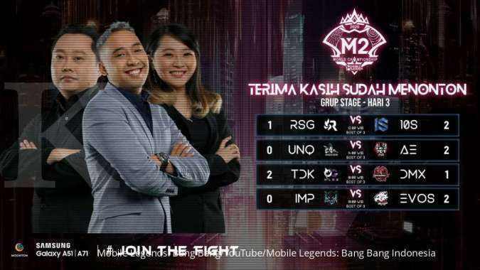 Hasil pertandingan hari ke-3 M2 Mobile Legends