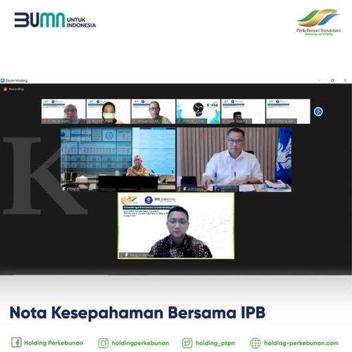 Dukung Program Pembelajaran Formal Lanjutan, PTPN III (Persero) Lakukan Kerja Sama dengan IPB dan Binus