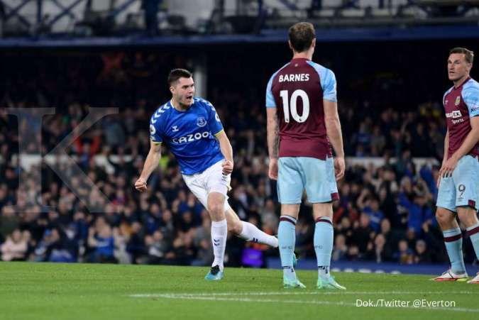 Hasil Liga Inggris Everton vs Burnley tersaji pekan ini