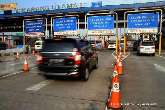 Sebanyak 519.610 kendaraan telah meninggalkan Jakarta jelang perayaan tahun baru 2020