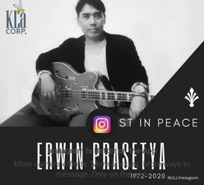 Erwin Prasetya, eks Basis Dewa 19 meninggal dunia karena pendarahan lambung