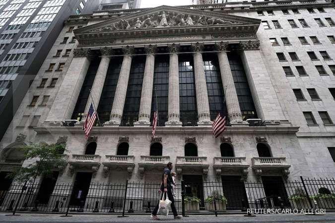 3 Indeks utama Wall Street ambles lagi, masih menanti stimulus