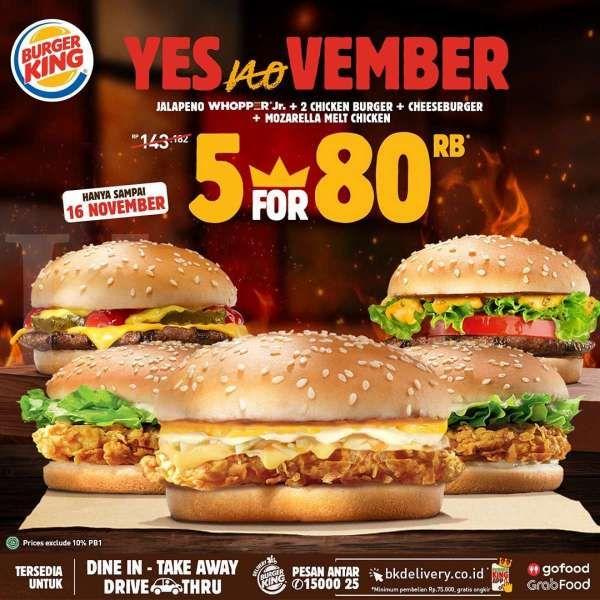 Promo Burger King terbaru, berlaku sampai 16 November 2020!