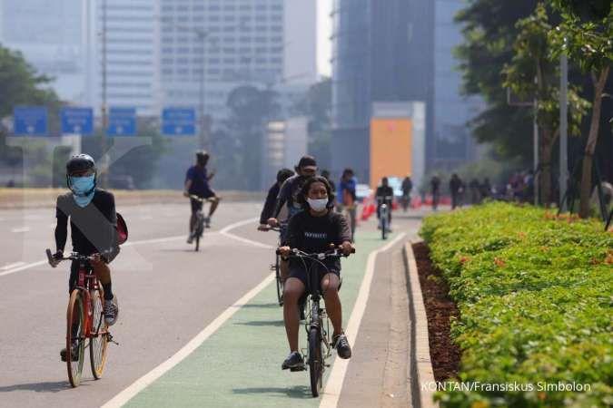 Hati-hati, seorang pesepeda menjadi korban begal di Kebayoran Baru