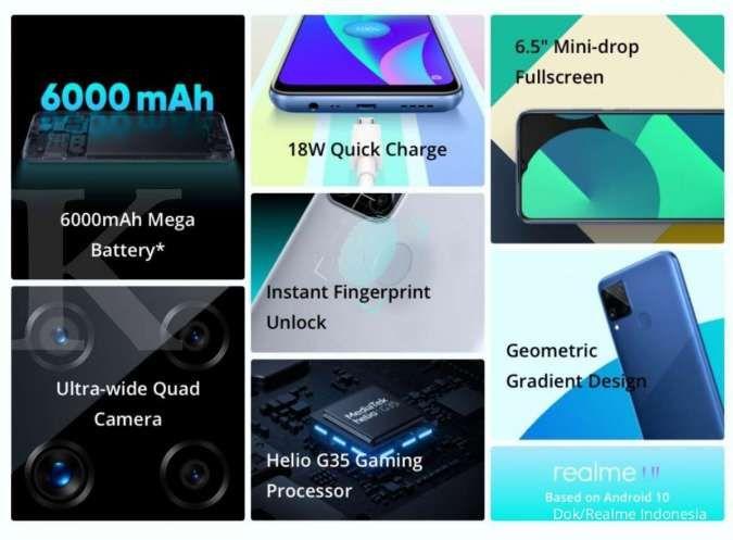 Spesifikasi dan harga HP Realme C15 RAM 4/64 GB