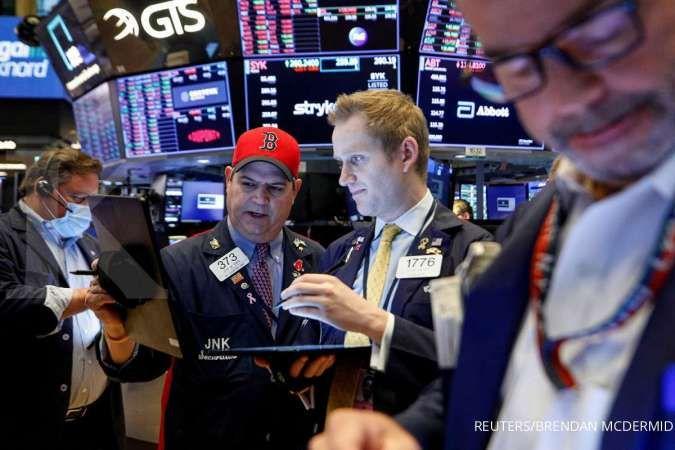 Wall Street melemah, investor menunggu periode rilis kinerja emiten