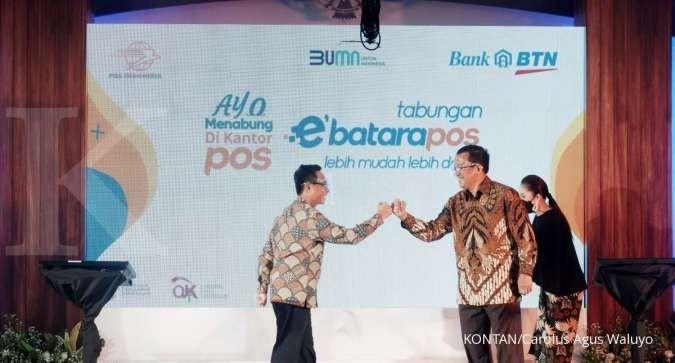 Gandeng Pos Indonesia, BTN rilis produk simpanan e'BataraPos