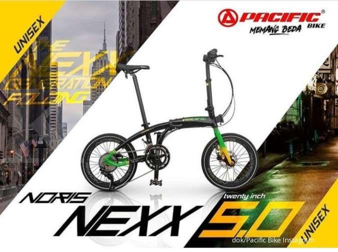 Jagoan di tanjakan, harga sepeda lipat Pacific Noris Nexx 5.0 ringan di kantong