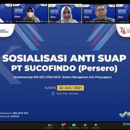 Wujudkan Komitmen, Sucofindo Sosialisasi Anti Penyuapan Kepada  Pelanggan dan Mitra Bisnis