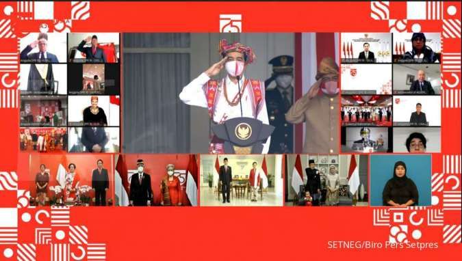 Megawati hingga JK ikuti upacara HUT ke-75 RI secara virtual