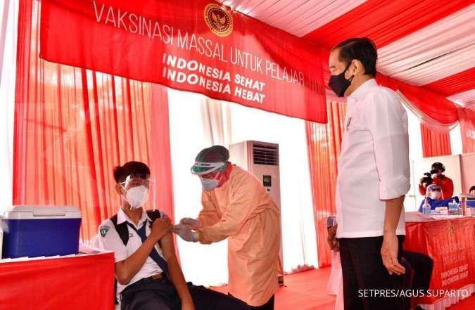 Tinjau vaksinasi pelajar, Jokowi berharap anak-anak bisa segera sekolah tatap muka