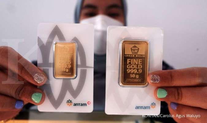 Harga emas Antam stagnan di level Rp 918.000 per gram pada hari ini (27/9)
