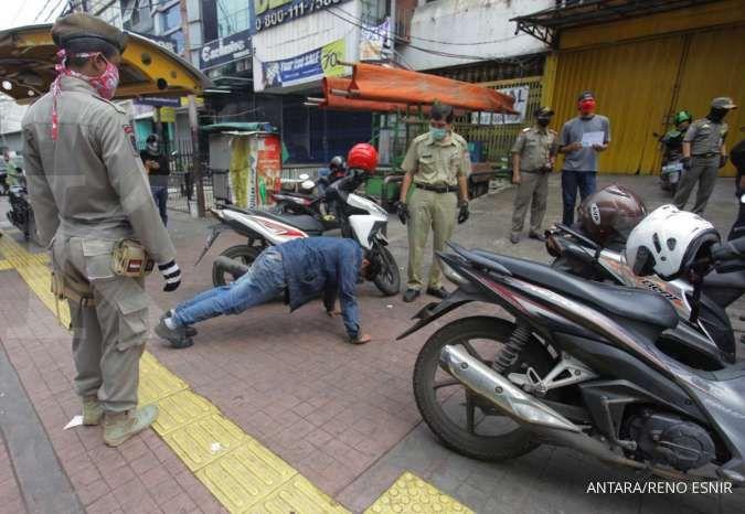 Sebanyak 101.478 orang terkena razia masker selama pemberlakuan PSBB transisi Jakarta